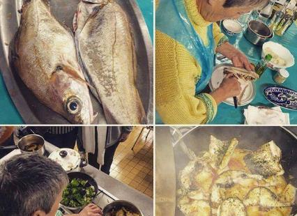 Cuisine de la pêche du jour