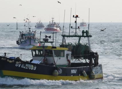 Arrivée des bateaux au port du Guilvinec