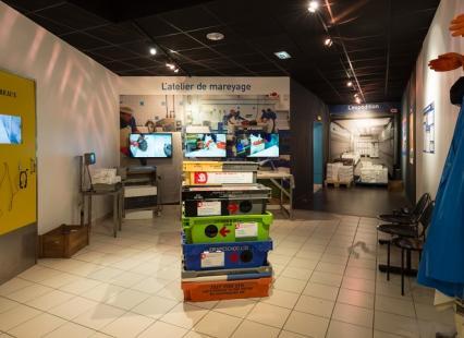 Reconstitution atelier de mareyage dans les expositions