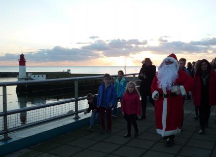 Le Père Noel au port du Guilvinec