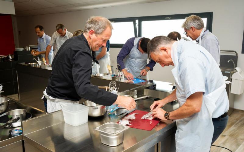 Atelier Cuisine séminaire entreprise Hatelier Haliotika Guilvinec