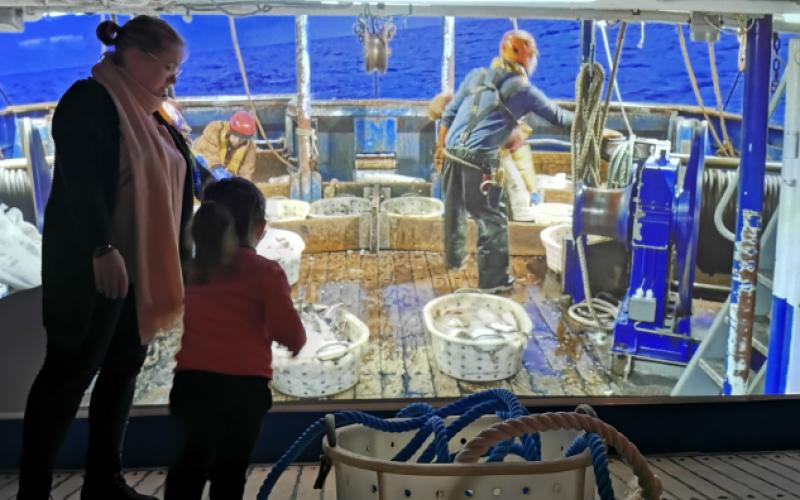 Visite exposition Embarquement Immédiat famille Haliotika Guilvinec